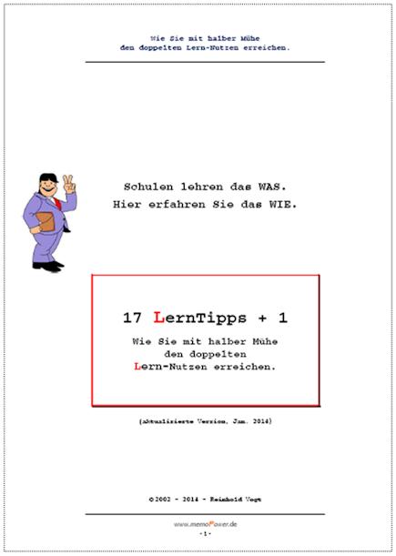 Deckblatt des Lerntipp-eBooks