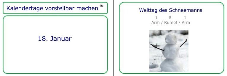 Lernkarte zum 18. Januar